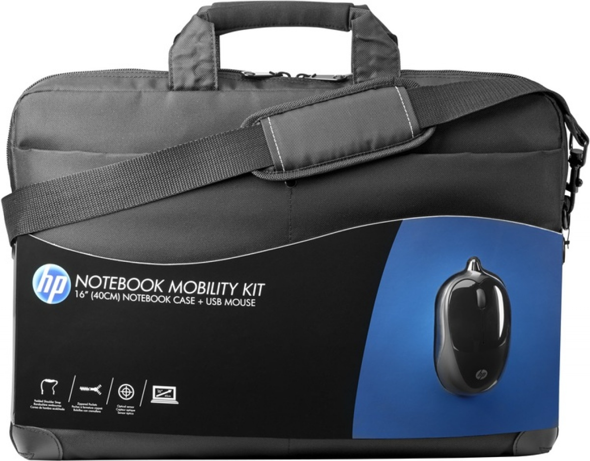 Mobility Kit geanta notebook si mouse USB, 16 inch, neagra