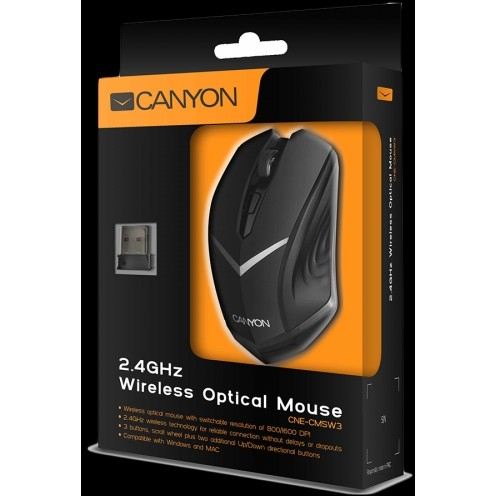 Mouse CNE-CMSW3, optic, USB, 800-1280dpi, negru