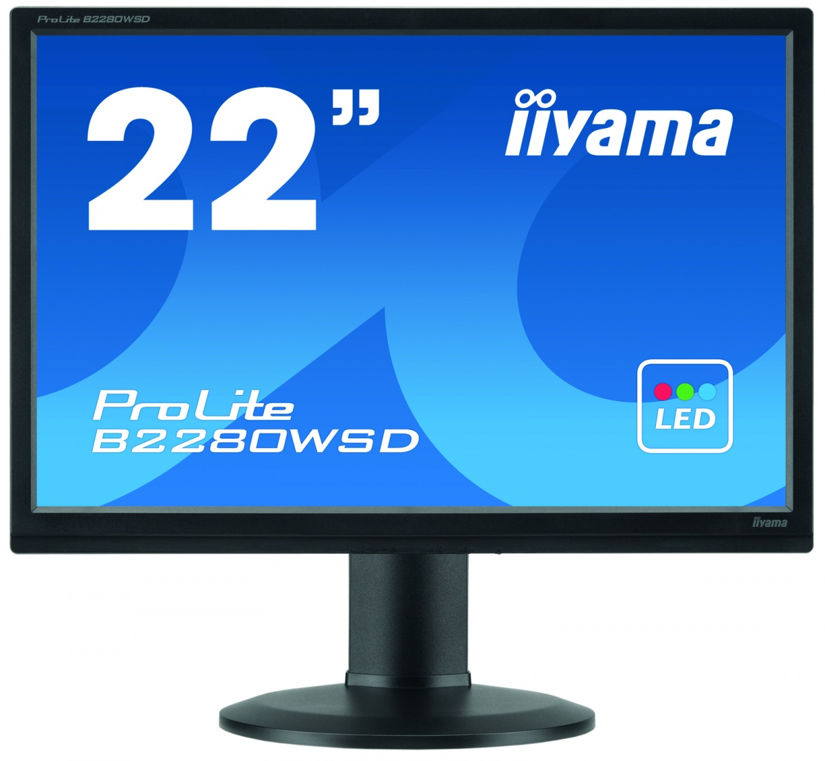 Monitor LED ProLite B2280WSD, 22 inch, 16:9, 5 ms, negru