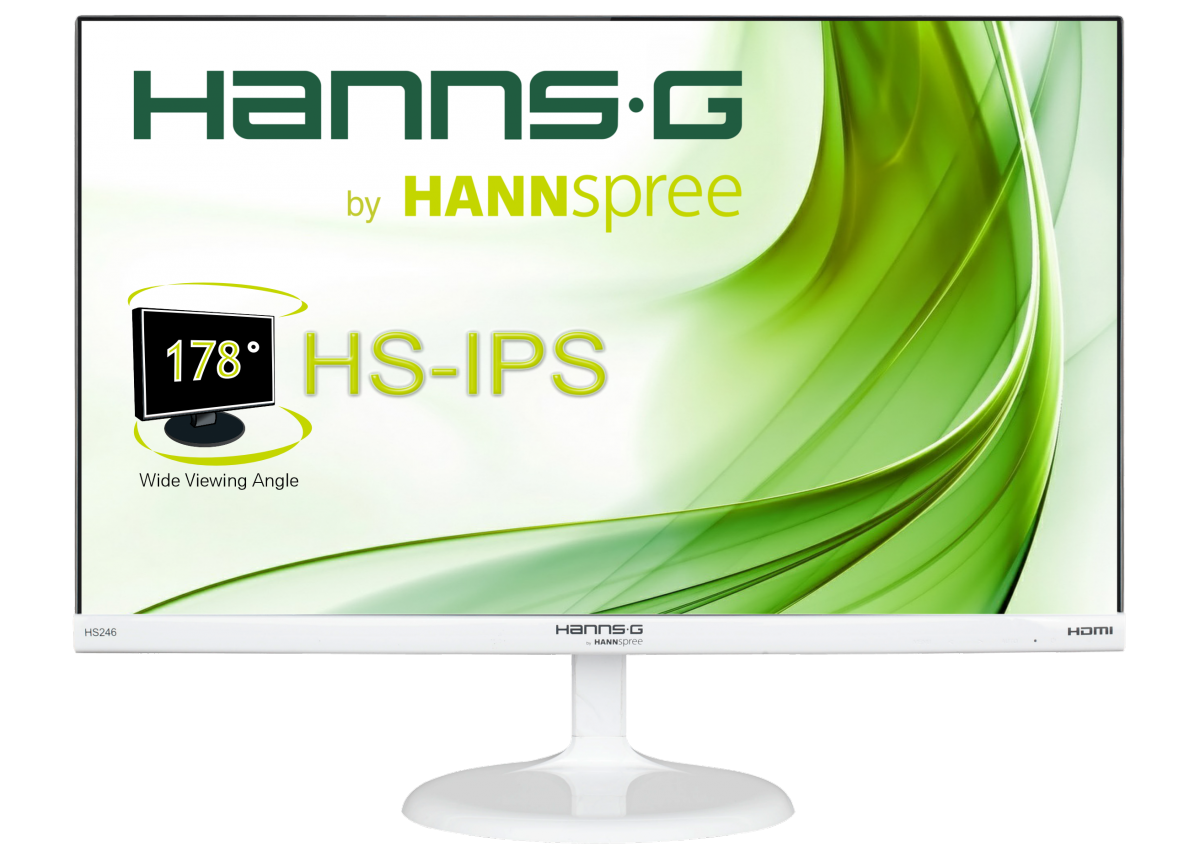 Monitor LED HannsG HS Series 246HFW, 16:9, 23.6 inch, 7 ms, alb