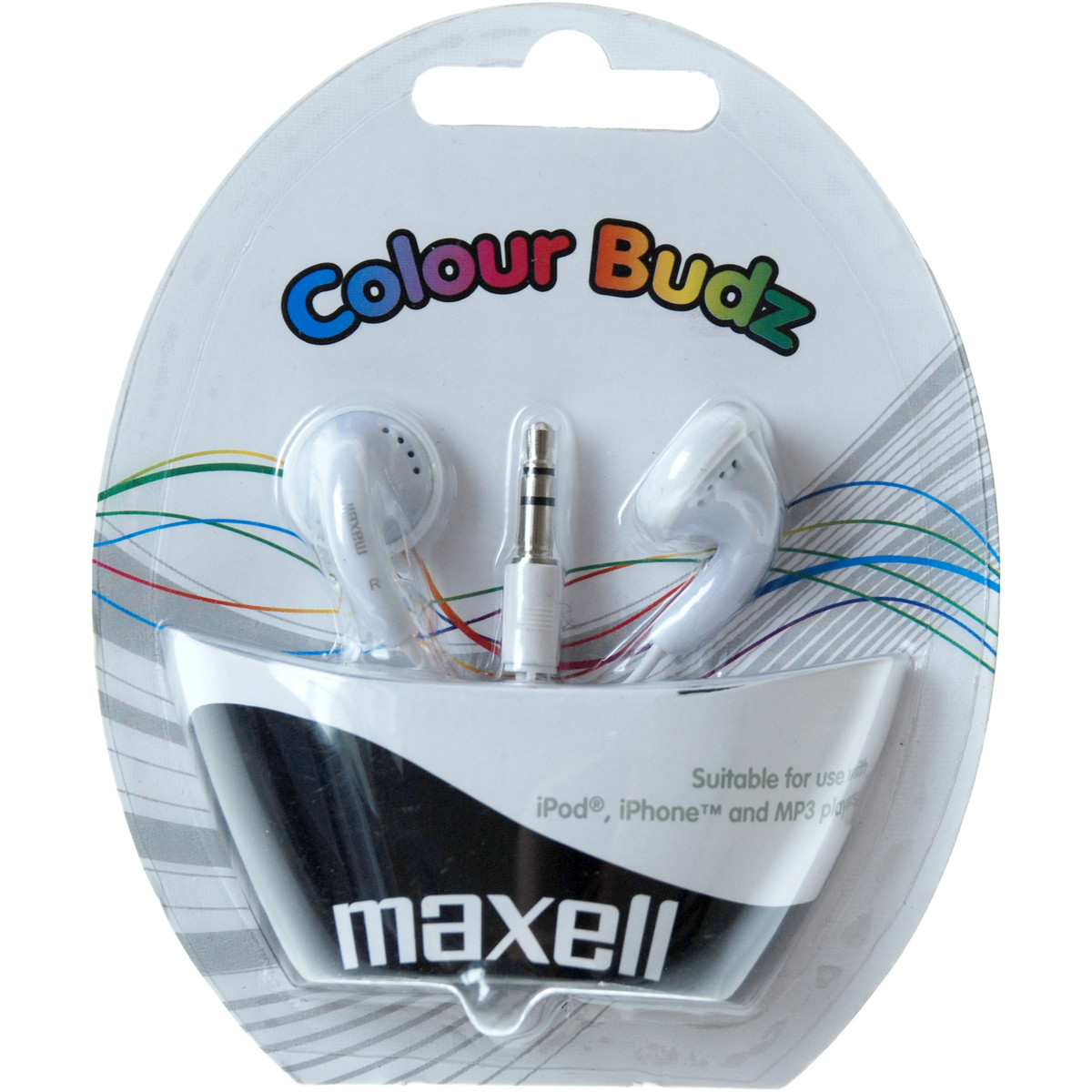 Casti Casca in ureche 3.5mm alb Color Budz Maxell