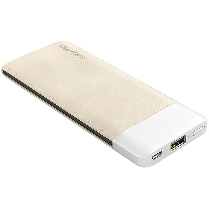 Baterie externa Power bank Qoltec 6000mAh Li-poly, caffee