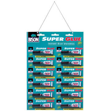 BISON Super Glue mastercard 12x3g crd.(2ml)