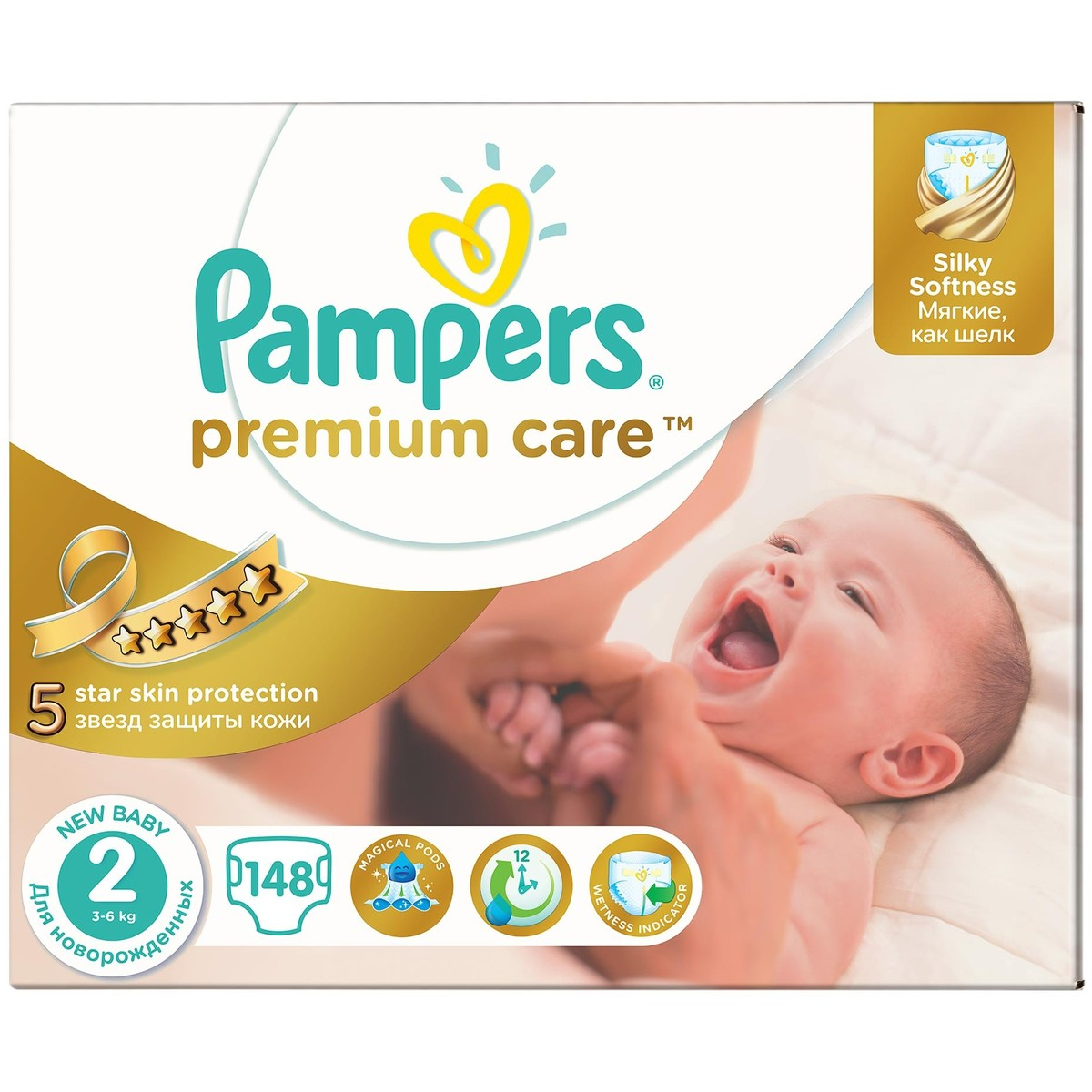 Scutece Pampers Premium Care 2 81553052 , New Baby Mega Box, 148 buc, 3-6 kg