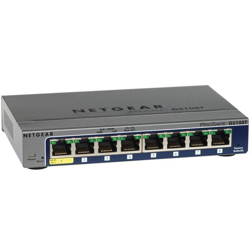 Switch ProSafe GS108T, 8 porturi x 10/100/1000 Mbps, Smart management
