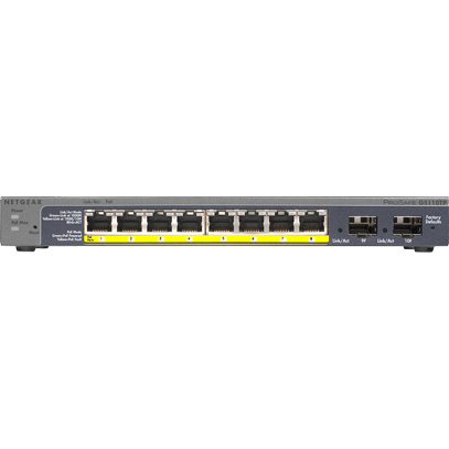 Switch ProSafe GS110TP , 8 porturi x 10/100/1000 Mbps, 2 x SFP, Smart Management
