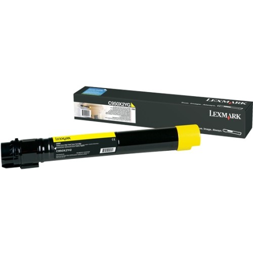 Cartus toner C950X2YG, yellow thumbnail