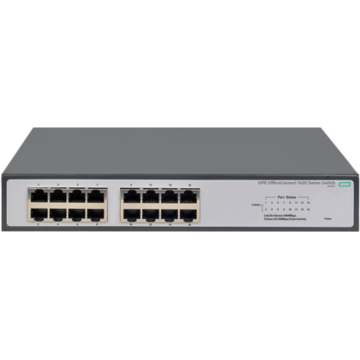 Switch HP OfficeConnect 1420, 16 porturi 10/100/1000 Mbps, fara management