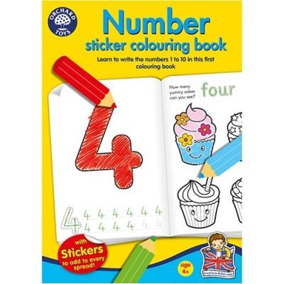 Number Sticker Colouring Book