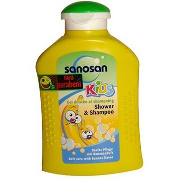 Sanosan Shower & Shampoo Banana