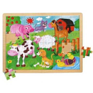 Bino Farm Animals (48 Pieces)