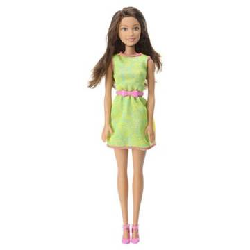 MATTEL Barbie BRB Green Yellow Dress