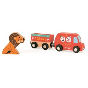 Janod My Story - Happy Circus (Truck & Lion)