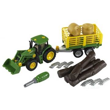 Klein John Deere With Trailer For Wood