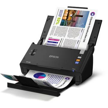 Scanner Epson WorkForce, DS-520N, A4, Retea, USB 2.0, negru
