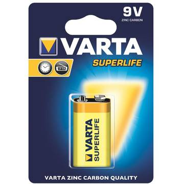 Baterie VARTA zinc carbon BAVA 2022,  Hi-voltage 9V, (typ 6LR61), 1 bucata superlife