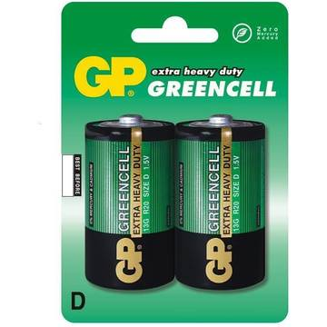 GPBATTERIE Zinc-chloride battery GP Batteries 13G-U2 D | R20 | 1.5V | GREENCELL | blister 2