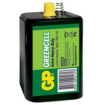 GPBATTERIE Zinc-chloride battery GP Batteries 908G-S1 4R25 | 6.0V | GREENCELL | shrink 1 pc
