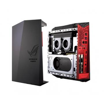 Sistem desktop brand Asus ROG G20CB-RO013T, procesor Intel Core i7-6700, 16 GB RAM, 1 TB HDD+ 128 GB SSD, Windows 10, video dedicat