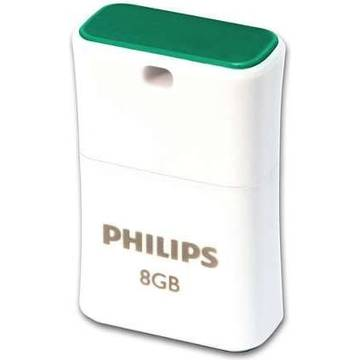 USB PHILIPS FM08FD85B/10, USB 2.0, 8GB, PICO EDITION GREEN, verde