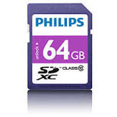 Card memorie PHILIPS SDXC FM64SD55B/10, 64GB, CLASS 10