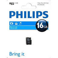 Card memorie PHILIPS MICRO SDHC FM16MP35B/10, 16GB, CLASS 4+adaptor