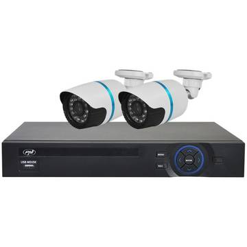 PNI Kit supraveghere video House IPMAX2 - NVR 8CH ONVIF si 2 camere IP 720P