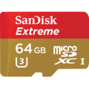 Card memorie Sandisk Extreme microSDXC SDSQXVF-064G-GN6AA, 64 GB, 90/60 MB/s, Class 10 U3 V30 UHS-I