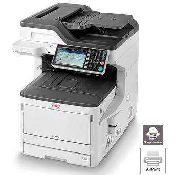 Multifunctionala OKI MC873dn, A3, LED, color MFP, USB, Laser, alb-gri