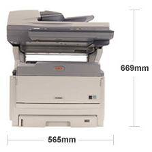 Multifunctionala OKI MC851dn+, laser color, A3, Fax, USB, alb