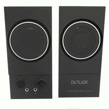 "Boxe BOXE 2.0 Delux, RMS: 1Wx2, power on/off, control volum, iesire casti, black, USB power ""DLS-2013U"""