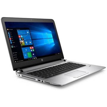 Notebook HP 450, i7-6500, 15HD, 8G, 1T, UMA, W7PW10P, Gri-Argintiu