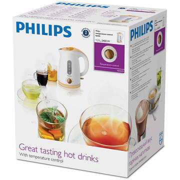 Fierbator Philips Viva Collection HD4678/70, 2400 W, 1.2 l, Alb/Lila