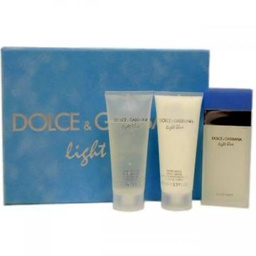Dolce & Gabbana Light Blue Eau De Toilette Travel 100ml + Shower Gel 100ml + Body Lotion 100ml