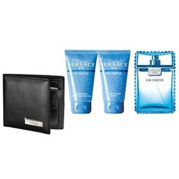 Versace Eau Fraiche Eau de Toilette 100ml + 50ml Shower Gel + 50ml After Shave Balsam + Wallet