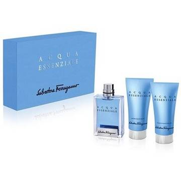 Salvatore Ferragamo Acqua Essenziale Eau de Toilette 50ml + 50ml Shower Gel + 50ml After Shave Balsam