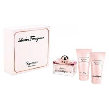 Salvatore Ferragamo Signorina Eau de Parfum 100ml + 50ml Body Lotion + 50ml Shower Gel