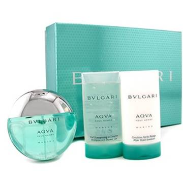 Bvlgari Aqva Marine Eau de Toilette 100ml + Shower Gel 75ml + After Shave Balsam 75ml