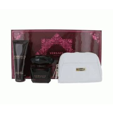 Versace Crystal Noir Eau de Toilette 90ml + 100ml Body Lotion + Cosmetic Bag
