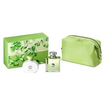 Versace Versense Eau de Toilette 100ml + 100ml Body Lotion + Green Bag
