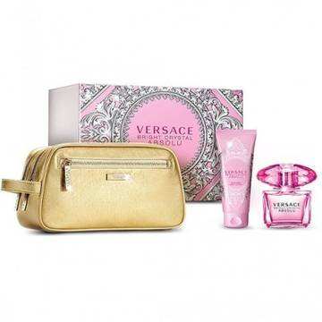 Versace Bright Crystal Absolu Eau de Parfum 90ml + Body Lotion 100ml + Handbag
