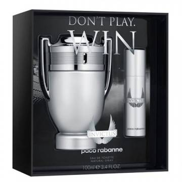 Paco Rabanne Invictus Eau de Toilette 100ml + Eau de Toilette 10ml