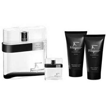 Salvatore Ferragamo F By Ferragamo Black Eau de Toilette 100ml + After Shave 100ml + Shower Gel 100ml