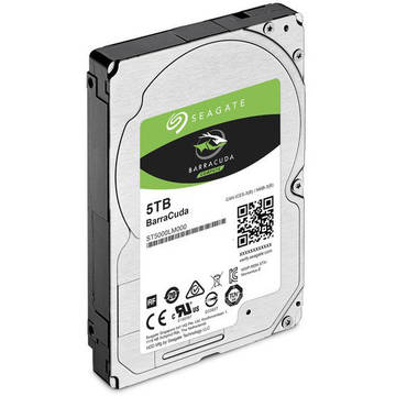 Seagate BarraCuda, 5 TB, 5400 RPM, SATA 6GB/s