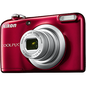 Aparat foto digital Nikon Coolpix A10, 2.7 inch, 16.1 MP, zoom 5x, rosu