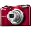 Nikon Coolpix A10, 2.7 inch, 16.1 MP, zoom 5x, rosu