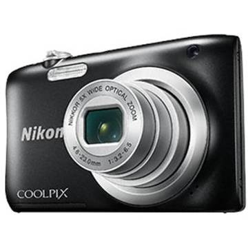 Aparat foto digital Nikon Coolpix A100, 2.7 inch, 20.1 MP, zoom 5x, negru