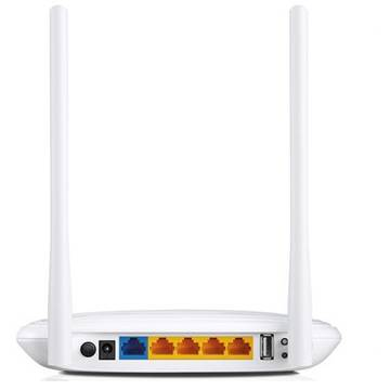 Router 4 PORTURI WIRELESS 300Mbps 2T2R, port USB, TP-LINK, 2 antene detasabile TL-WR842N