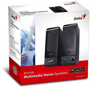2.0 GENIUS   SP-U120, RMS: 0.75Wx2, black, USB power 31731057100