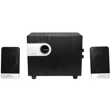 MEDIATECH NOVELTY 2.1, 3-channel speakers set, wooden woofer, total RMS 15W